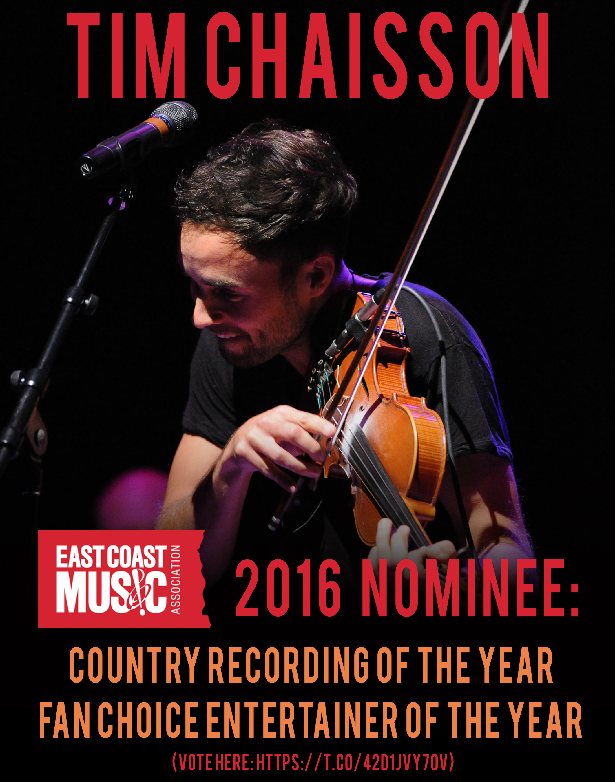 "Vote for Tim Chaisson for ""Fan Entertainer Of The Year"" here: https://t.co/42d1jvY7Ov"